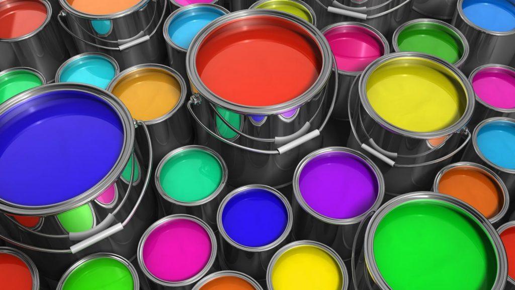 ведра с краской