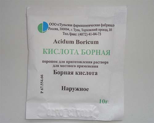 борная кислота в пакетике