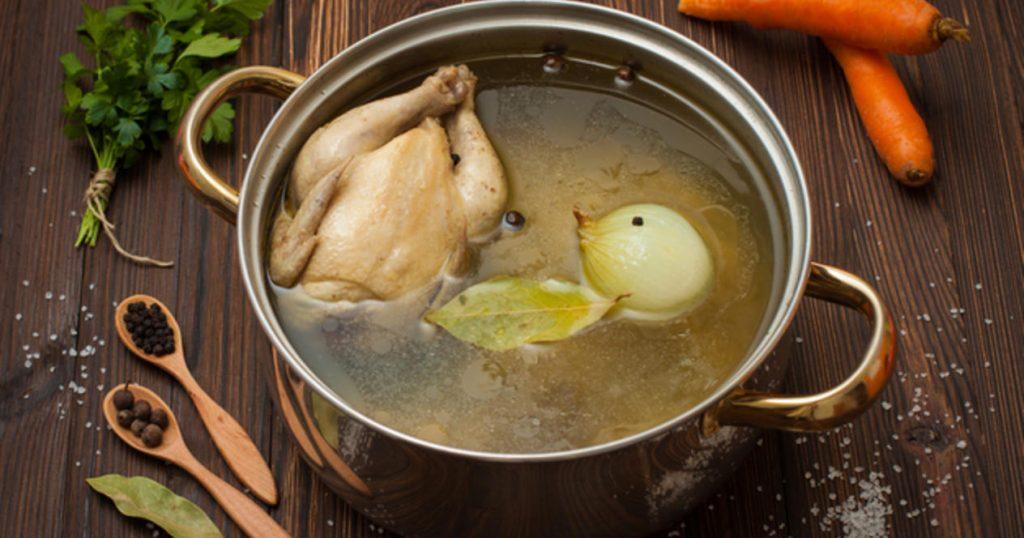 Куриный бульон при отравлении